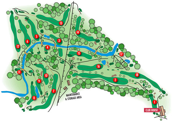 Valley Map - Remington Parkview Golf Course